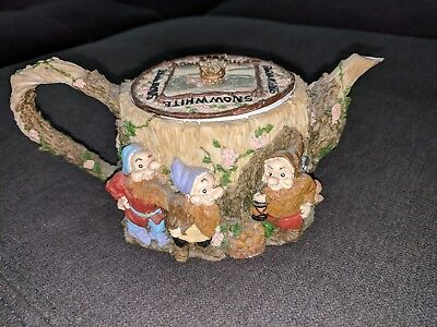 Snow White 7 Dwarfs Teapot Vintage Collectible Disney Trinket, Great Condition