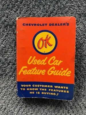 Chevrolet OK Used Care Feature Guide dealer brochures