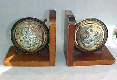 Two Globe Bookends