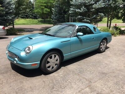 2002 Ford Thunderbird  2002 Deluxe Ford Thunderbird V8- 2D Convertible / Removeable Hrd Top 17742 miles
