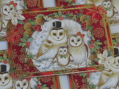 Punch studio single1 embellished dimensional holiday card violin punch studio christmas greeting cards set 5 gold foil dimensional owl family m4hsunfo