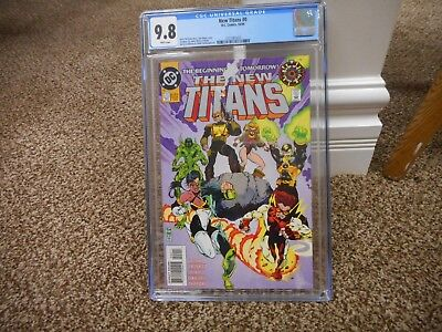 New Titans 0 cgc 9.8 DC 1994 Team cover Zero Teen Kid Flash MINT WHITE pgs movie