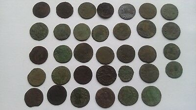 Lot of 34 coins.Solidus 1660-1666 John ll Casimir Vasa Grand Duchy of Lithuania.