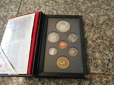 1989 Canadian National Mint Canada 7-Coin Proof Set w/Case Mackenzie river