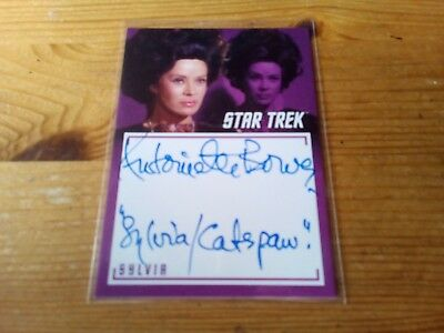 Star Trek The Captain's Collection 2018 Autograph Of Antoinette Bower Card A 10