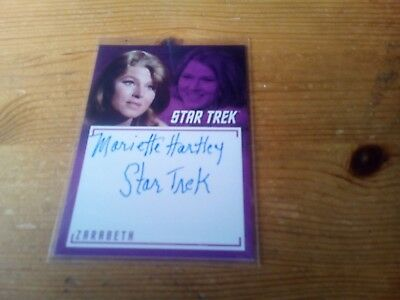 Star Trek Tos The Captain's Collection 2018 Auto Of Mariette Hartley Card A 12