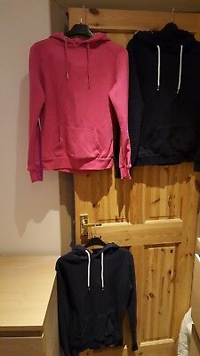 3 Ladies Size 8 Hoodie Bundle ( 1 pink and 2 navy)