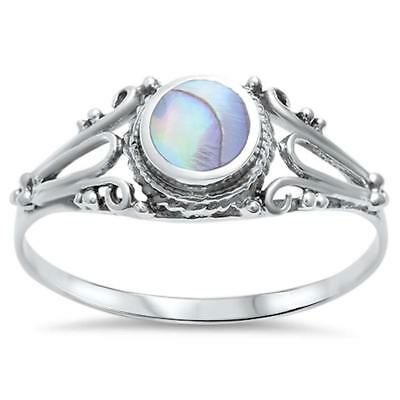 Celtic Abalone Shell .925 Sterling Silver Ring