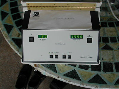 Hospital White Maico MA 39 Screening Audiometer Insert phones are included