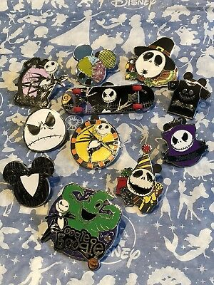 Disney Trading Pins - Nightmare Before Christmas (11 Pin Lot) - Jack/Sally