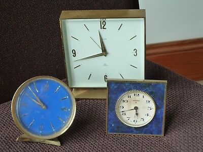 Three Vintage Swiza  Alarm Clocks 8 Day complete in need of repair