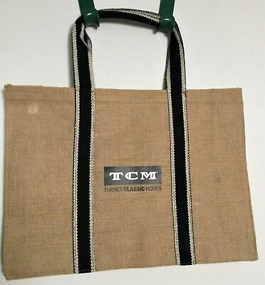 Turner Classic Movies - TCM Large Burlap Tote Bag - NWOT