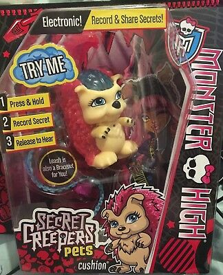 Monster High - Secret Creepers Electronic Pets - Cushion - Record Secrets BNIB