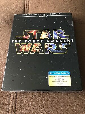 Star Wars the Force Awakens new   blu-ray dvd digital hd set case included