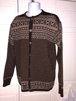 Dale Of Norway Womens Button Front Sweater Cardigan Norwegian XXL Wool