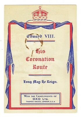 Original 1936 Map of Edward VII's Coronation Route by OXO London Nice Graphics