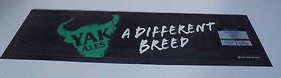 Fat Yak A different Breed Beer Mat - New with out packaging Rubber Backed
