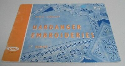 Hardanger Embroideries 1st Series DMC Embroidery Book Vintage 1965