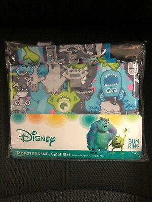 "Monsters Inc Waterproof Stain Resistant Splat Mat 42""X42"""