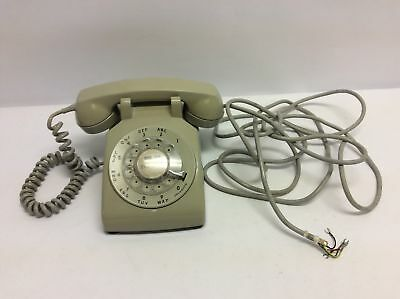 Bell System Western Electric C/D 500 Rotary Telephone Grey Gray