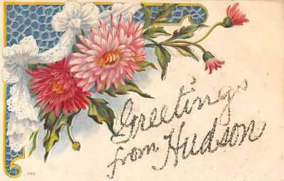 Hudson West Virginia Flower Greeting Antique Postcard K103932