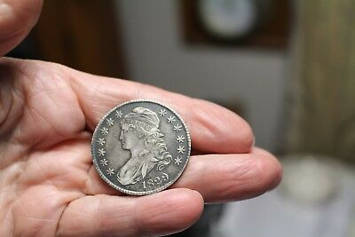 1829 Capped Bust Half Dollar Full Liberty Edge Letter Ruddy Photograde Very Fine