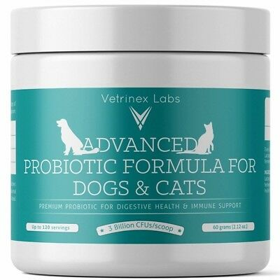 Probiotics for Dogs and Cats with Prebiotic - 3 Billion CFU. 7 Strains - Best Su