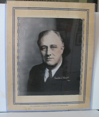 World War II era Franklin Roosevelt poster - Disabled Veterans + Bill of Rights