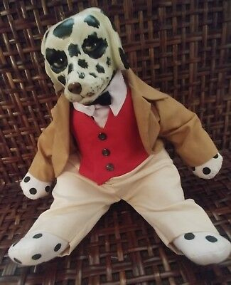 Dalmation dog, porcelain head, Orma doll, original, hand crafted, hand painted,