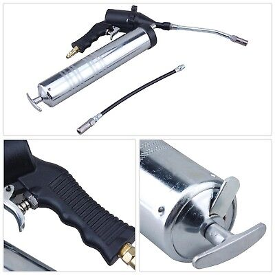 Pneumatic Powered Grease Gun Flexible Grease Hose Continuous Flow Air Tool New
