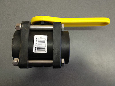 """2"""" Standard Port Poly Ball Valve W/ Stainless Bolts Norwesco P#61122"""