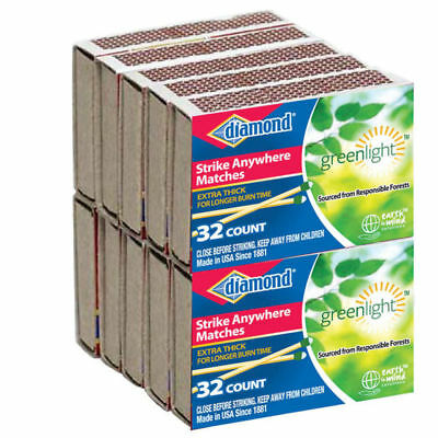 (24) 10 Packs 32 Count Diamond Strike Anywhere Matches Factory Sealed Fresh