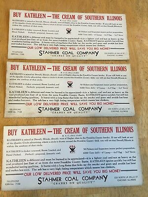3 Stahmer Coal Co.chicago,Buy Kathleen-The Cream Of Southern Illinois.blotters