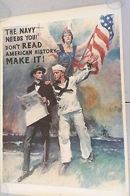 "Vintage USN Navy Recruiting Poster 1974 Official Reproduction. 37"" x 25"""