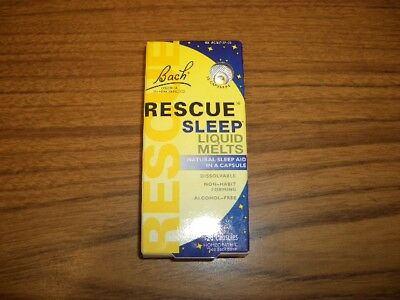 Bach Rescue Flower Remedies Sleep Liquid Melts Homeopathic, 28 Capsules 6/2019