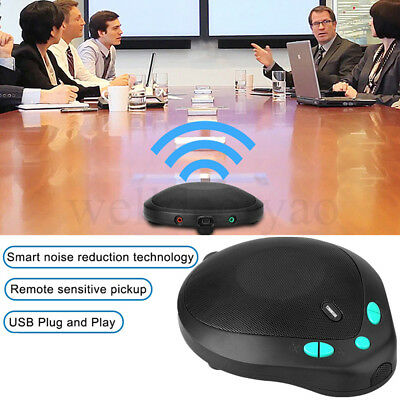 USB-502 Mini Voice HiFi Voip Conference Meeting Microphone MIC Amplifier Speaker
