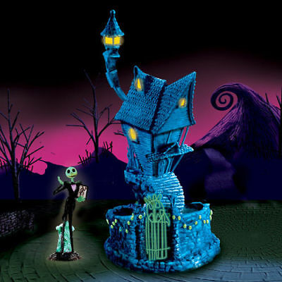 """Nightmare Before Christmas Blacklight Village Collection-  """"JACK'S HOUSE"""" (NEW)"""