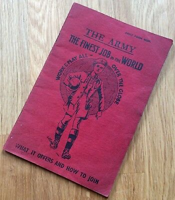 """Original 1937 British Army Recruiting Brochure: """"the Finest Job In The World"""""""
