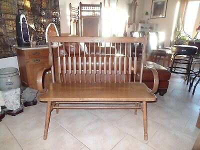 Vintage Wooden Seat Bench, 1950's, Home Decor, Mid-Century Furniture
