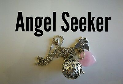 Code 826 Angel Seeker Baby Caller Musical Ball Infused Necklace Pregnancy IVF