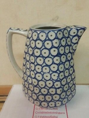 Vintage German Water Pitcher R&C early ceramic hand made painted stamped 1920s?
