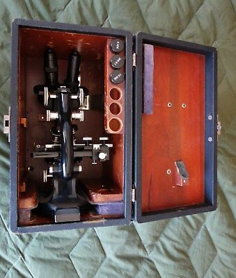 Spencer Microscope in traveling case