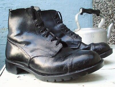 BRITISH ARMY VINTAGE DMS BOOTS 9 M Military Drill Parade Falklands WW2 Commando