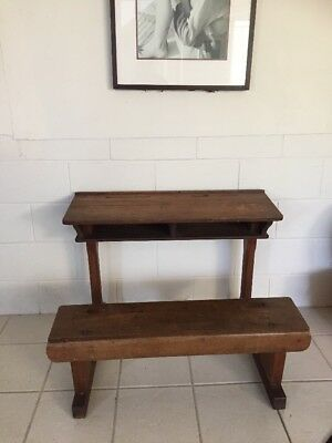 Vintage childrens school desk