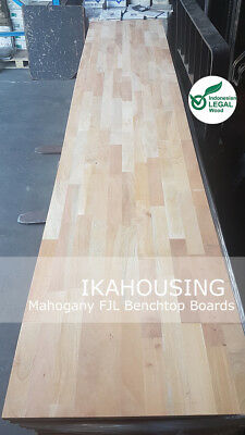 NEW Solid Mahogany Hardwood Benchtop Boards 3000x600x17mm CHEAPEST PRICE QLD