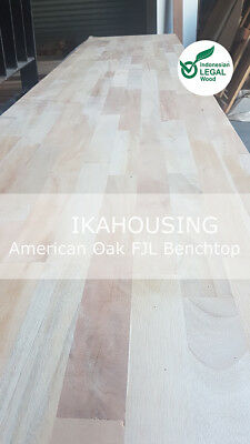NEW Solid American Oak Hardwood Benchtop Boards 2420x600x20mm CHEAPEST PRICE QLD