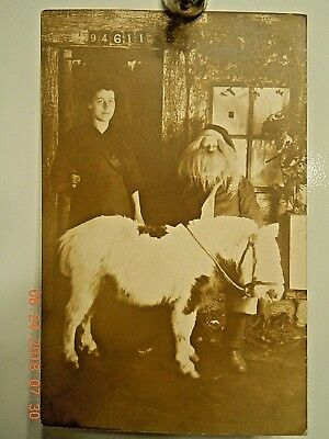 Early Santa Claus With Lady And Pony Postcard-Real Photo