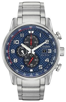 New Citizen Eco-Drive Primo Blue Dial Stainless Steel Men's Watch CA0680-57L