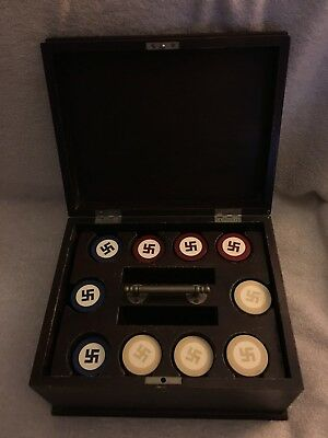 1920's Native American Four Winds Good Luck Swastika Poker Chips W/245 CHIPS