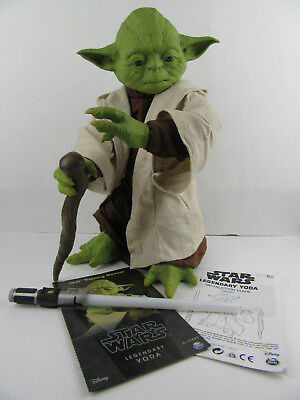 "Legendary Star Wars Yoda Interactive 16"" Robot Toy Animatron Voice Recognition"